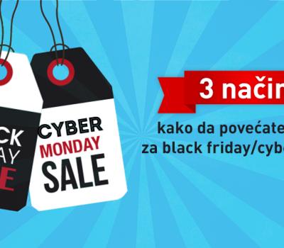 3 taktike za povećanje prodaje tokom Black Friday/Cyber Monday